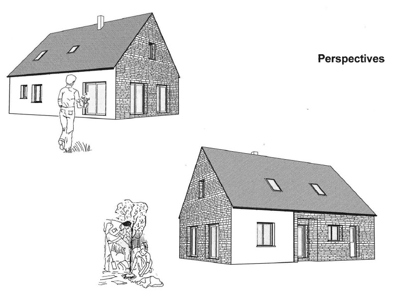 gîte le patelot de saint germain sur ay - perspective des plans de construction